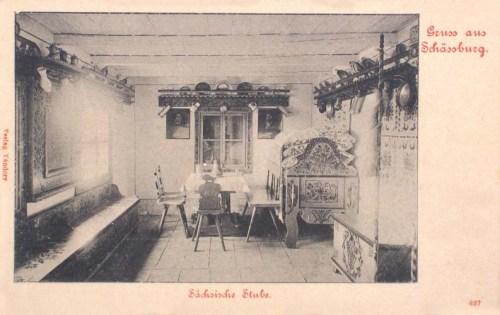 Segesvár:szász szoba belső.1904
