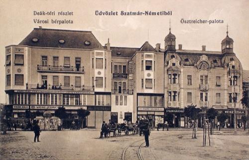 Szatmárnémeti:Östreicher városi bér palota.1915