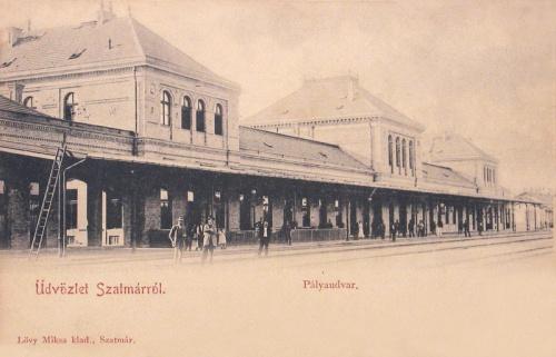 Szatmárnémeti:vasútállomás.1901
