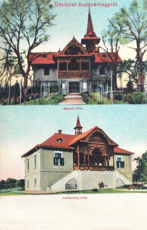 Szatmárhegy:Mándi és Lehoczky villa.1912