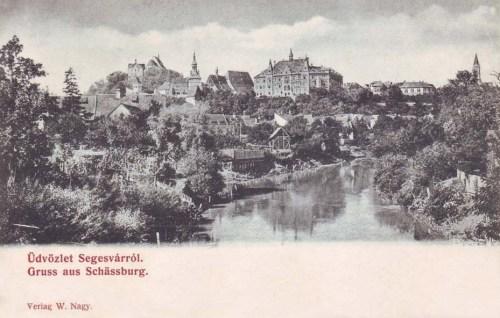 segesvár:látkép a várral.1904