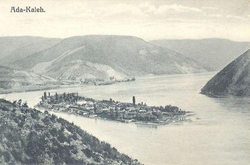 Ada-Kaleh,magyar-román-szerb határ a Dunán 1911