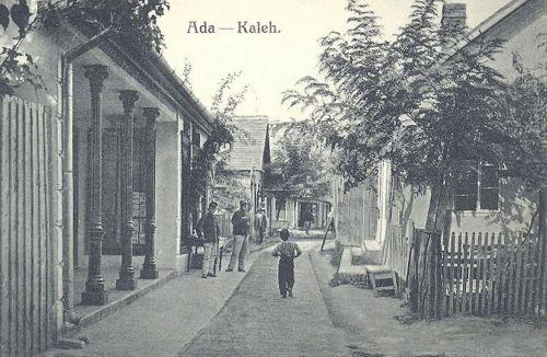 Ada Kaleh:utca részlet katonákkal.1911