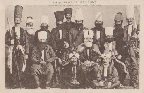 Ada-Kaleh:történelmi ruházat bemutatása.1905