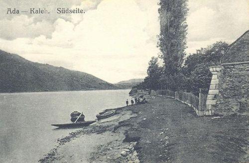 Ada kaleh:a vár déli oldala a Dunával.1911