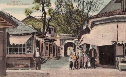 Ada Kaleh:bazár a várkapunál.1912