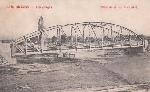 Szászrégen:Maros hid.1909