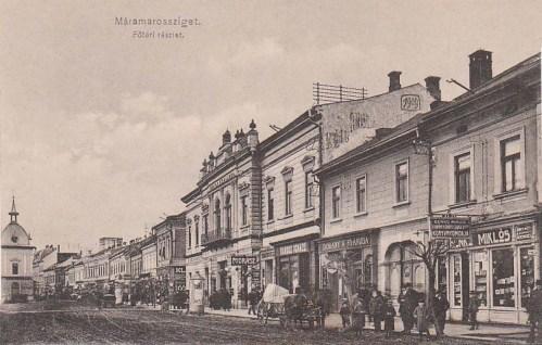 Máramarossziget:Korona száloda,fodrászat,könyvkereskedés.1911