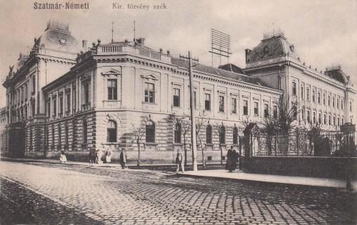 Szatmár:Törvényszék.1912
