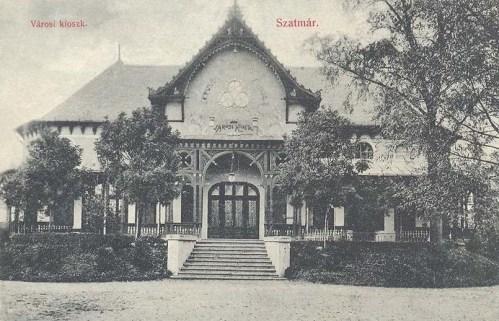 Szatmár:városi kioszk.1910