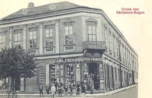 Szászrégen:Carl Fronius üzlete.1912