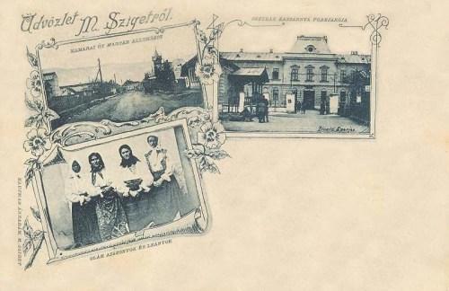 Máramarossziget:oláh asszonyok és leányok,osztrák kaszárnya.1898
