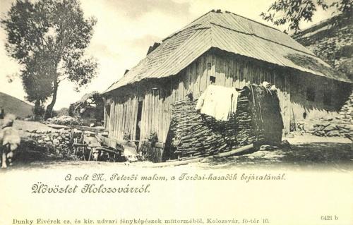 Magyarpeterd:malom a tordai hasadék bejáratánál,1900 körül.