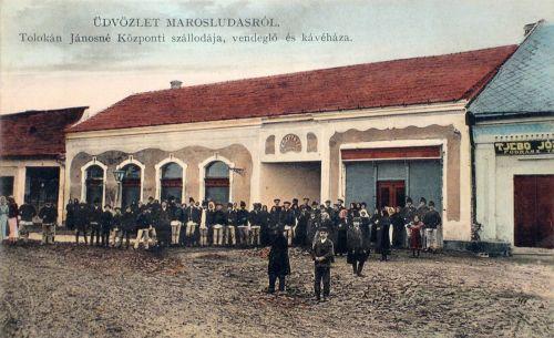 Marosludas:Központi szálloda ,kávéház és vendéglő. 1911