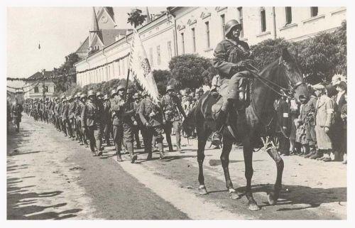 Máramarossziget:magyar honvédek bevonulása.1940