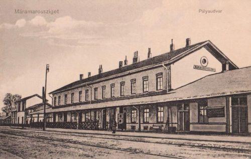 Máramarossziget:pályaudvar,vasútállomás.1912