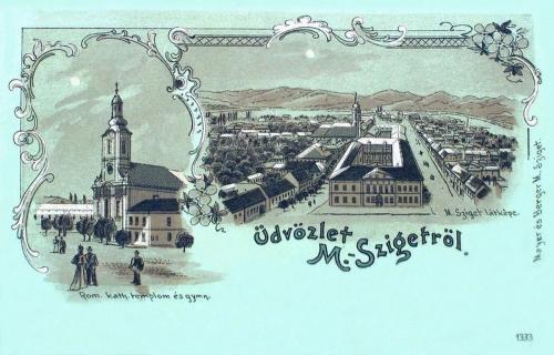 Máramarossziget-Maramureschsigeth-Sigetul Marmatiei:kőnyomat 1899