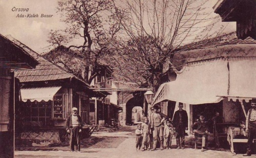 Ada Kaleh:bazár és várkapu.1916