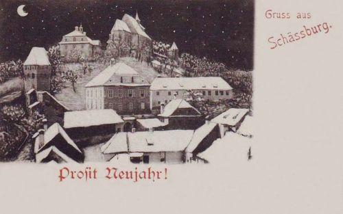 Segesvár:Boldog Új Évet!1900