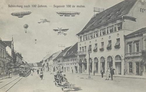 Segesvár:száz év múlva a jövőben.1914