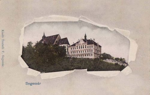 Segesvár,evangélikus gimnázium és templom 1903