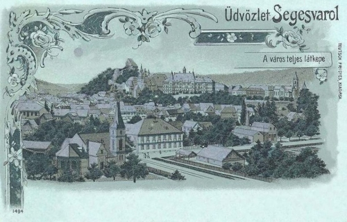 Segesvár-Schassburg-Sighisoara:kőnyomat-litográfia.1899