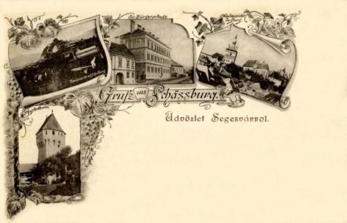 Segesvár-Schassburg-Sighisoara:Polgári iskola,cipészek bástyája 1896