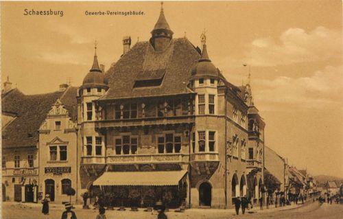 Segesvár:Korona kávézó és gyógyszertár.1908