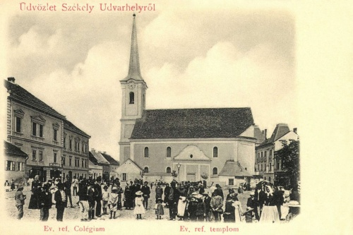 Székelyudvarhely:református templom és kollégium,1902.