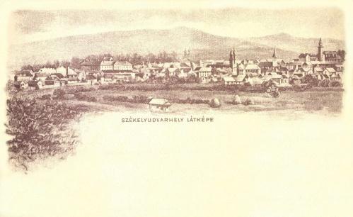 Székelyudvarhely:látkép,1898.