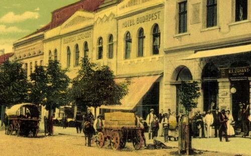Hotel Budapest és Dohány bolt,1907.