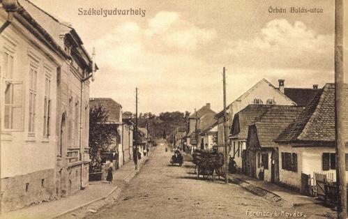 Orbán Balázs utca,fényképezte:Ferenczy és Kovács fényképész,1912.