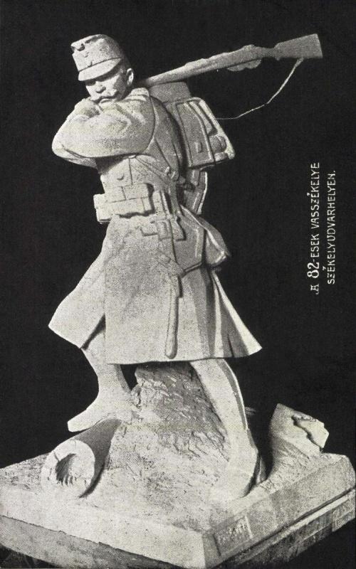 A 82-es honvéd gyalogezred Vasszékely makettje,1917-ben.