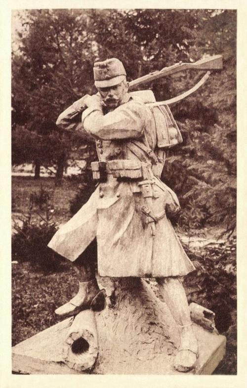 Vasszékely szobor:cs.kir.82 székely,gyalogezred,1917.
