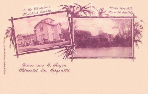 Szászrégen:Matskási és Horváth kastély Radnótfáján.1899