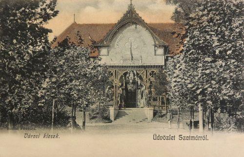 Szatmár:városi kioszk kávézó.1902