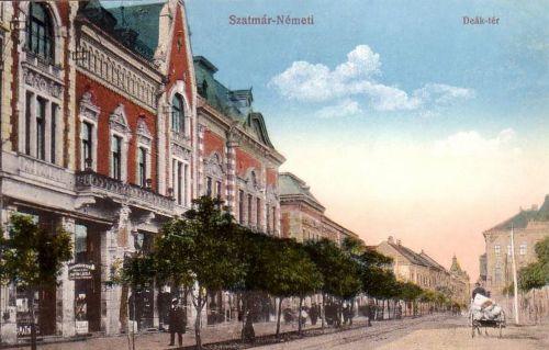 Szatmár:Deák téri részlet.1913