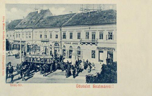 Szatmár: villamos és bútor üzlet,bútortelep.1900