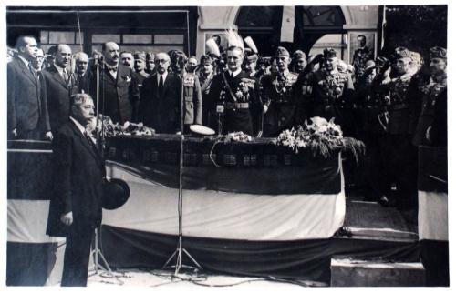 Szatmárnémeti:Horthy Miklós kormányzó,Teleki Pál miniszterelnök.1940