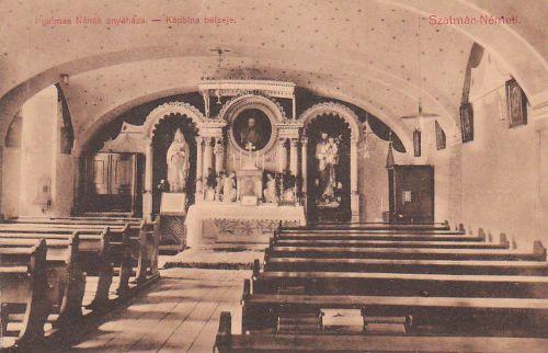 Szatmár:Irgalmas nénék anyaháza,kápolna belseje.1912