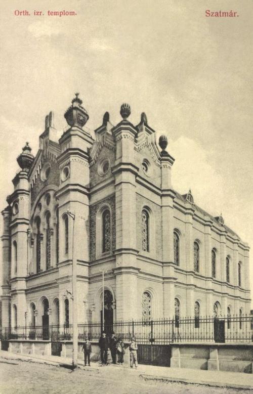 Szatmár:ortodox izraelita templom,1908.