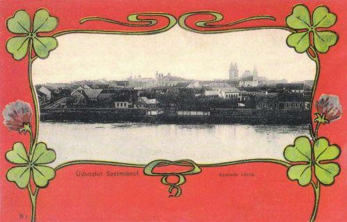 Szatmárnámeti:város látképe.1901