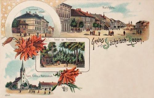 Szászrégen-Sachsisch-Regen-Reghin:kőnyomat 1899