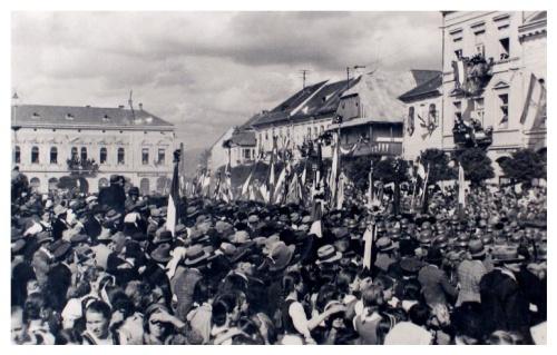 Szászrégen:magyar honvédek bevonulása.1940