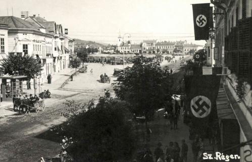 Szászrégen:főtéri részlet,1940.
