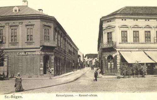 Carl Fronius és Scholtz üzlete a Kessel utcánál,1906.