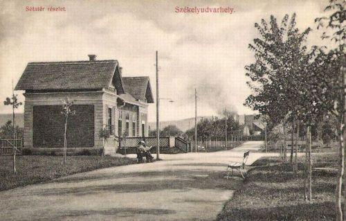 Székelyudvarhely:sétatéri részlet.1910