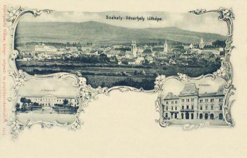 Székelyudvarhely-Oderhellen-Odorheiu Secuiesc:vármegyeháza,főreáliskola 1899