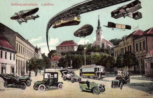 Székelyudvarhely a jövőben,100 év múlva,1910.