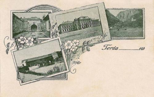 Torda:Vármegyeháza,régi hid.1899